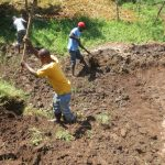 The Water Project: Emmachembe Community, Magina Spring -  Soil Backfilling