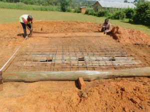 The Water Project:  Latrine Foundation Begins Over Pits