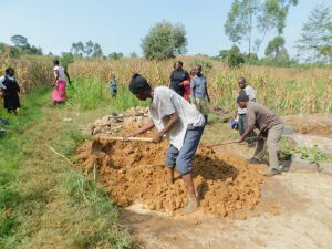 The Water Project:  Mobilizing Clay For Backfilling
