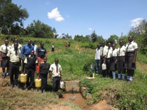 The Water Project:  Students And Staff At The Spring