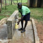 The Water Project: Khwihondwe SA Primary School -  Student Collecting Water