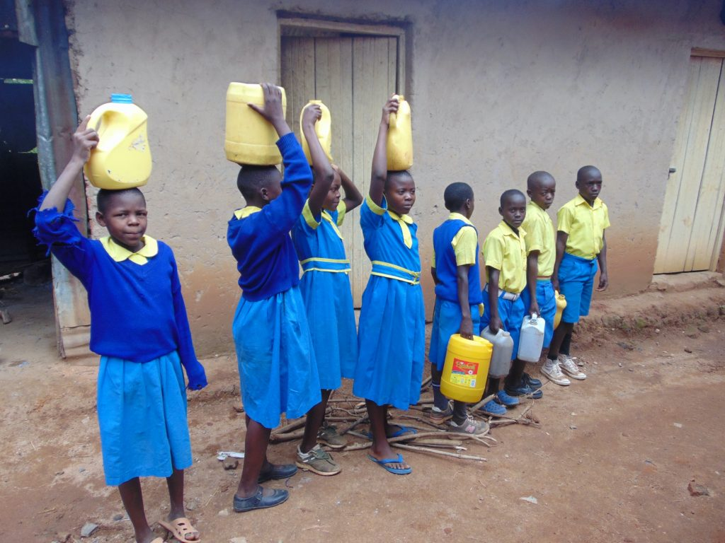 The Water Project : 18-kenya20103-students-carrying-water-3