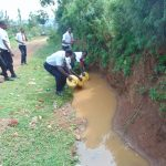 The Water Project: Friends Mixed Secondary School Lwombei -  Students Collecting Surface Water From Home