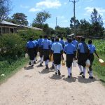 The Water Project: Malinda Secondary School -  Students Heading To The Spring