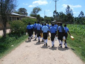 The Water Project:  Students Heading To The Spring