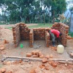 The Water Project: Goibei Primary School -  Latrine Walls Going Up