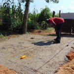 The Water Project: Mukangu Primary School -  Latrine Foundation Cemented