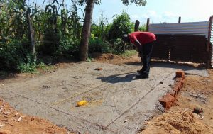 The Water Project:  Latrine Foundation Cemented