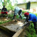 The Water Project: Bung'onye Community, Shilangu Spring -  Sanitation Platform Construction