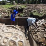The Water Project: Bungaya Community, Charles Khainga Spring -  Field Officer Mary Afandi Supervising Works