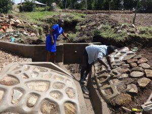 The Water Project:  Field Officer Mary Afandi Supervising Works