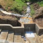 The Water Project: Emmachembe Community, Magina Spring -  Plastic Tarp Backfilling