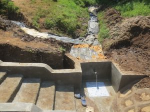 The Water Project:  Plastic Tarp Backfilling