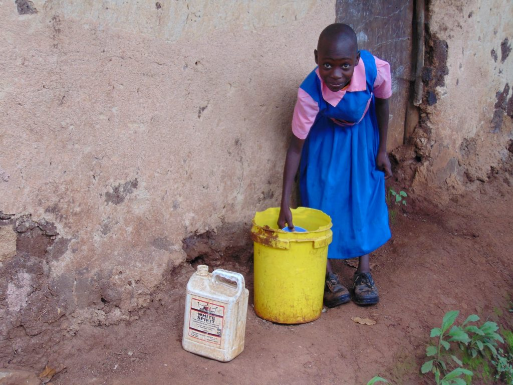 The Water Project : 19-kenya20115-student-collecting-water-from-home