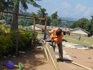 The Water Project:  Working On Latrine Doors