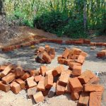 The Water Project: Mukangu Primary School -  Latrine Brickwork