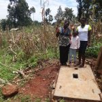 The Water Project: Hirumbi Community, Khalembi Spring -  Proud New Sanitation Platform Owners