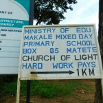 The Water Project: Makale Primary School -  School Signpost