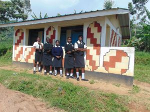 The Water Project:  Girls At The Shared Latrine Block