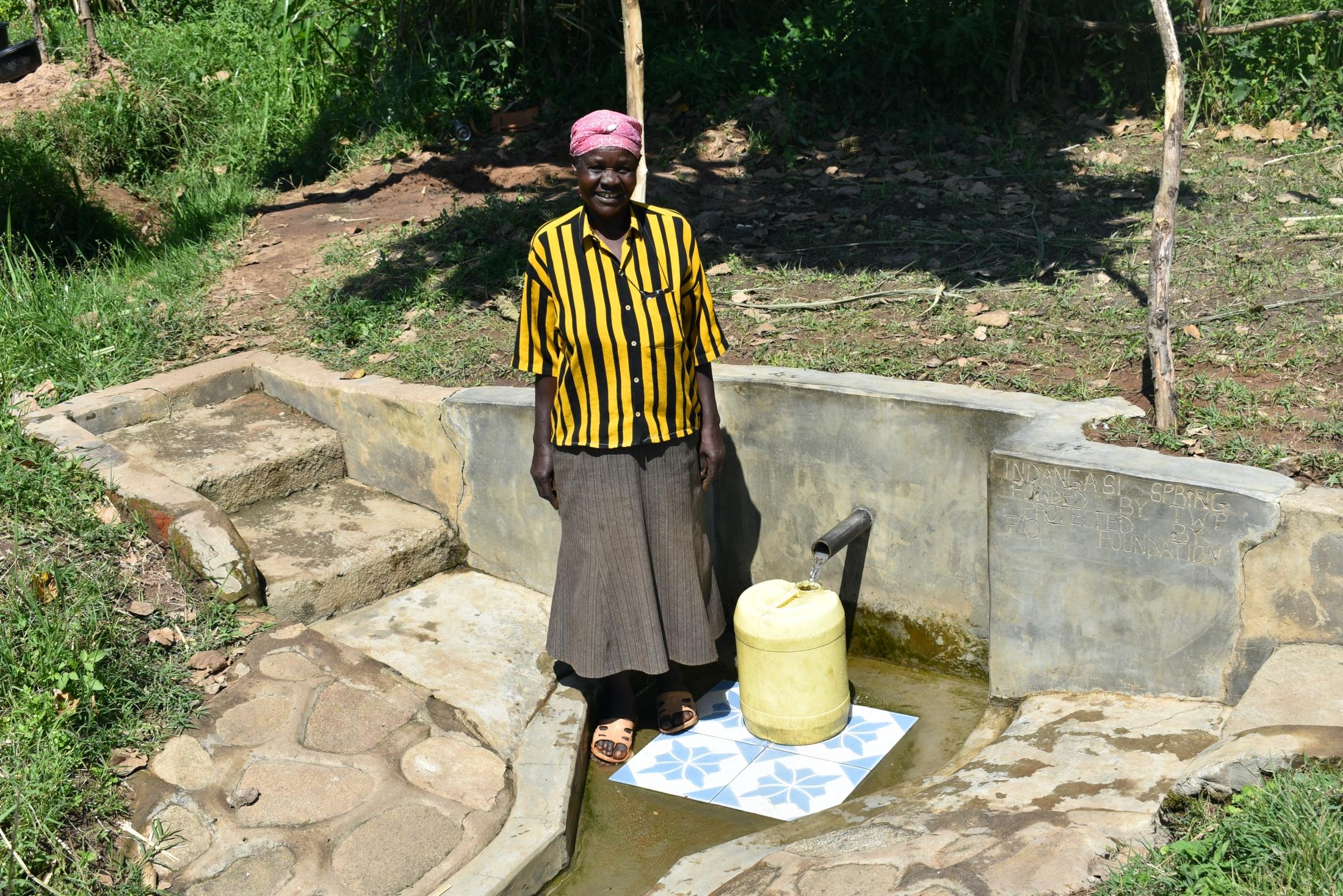 The Water Project : 2-kenya18312-mama-indangasi-the-spring-landowner