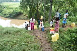 The Water Project:  Busy Path From Nyanje Spring
