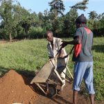 The Water Project: Bungaya Community, Charles Khainga Spring -  Community Members Bring Materials To Site