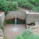 The Water Project: Malinda Secondary School -  Spring Where Students Fetch Water
