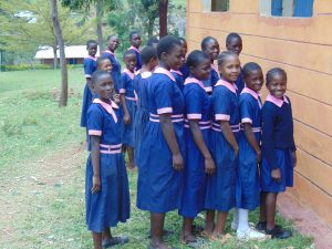 The Water Project:  Girls Waiting To Use Latrines