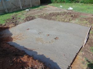 The Water Project:  Cement Latrine Foundation