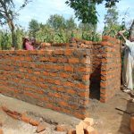 The Water Project: Mukangu Primary School -  Latrine Walls Take Shape