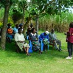 The Water Project: Bung'onye Community, Shilangu Spring -  Training Under Tree Shade