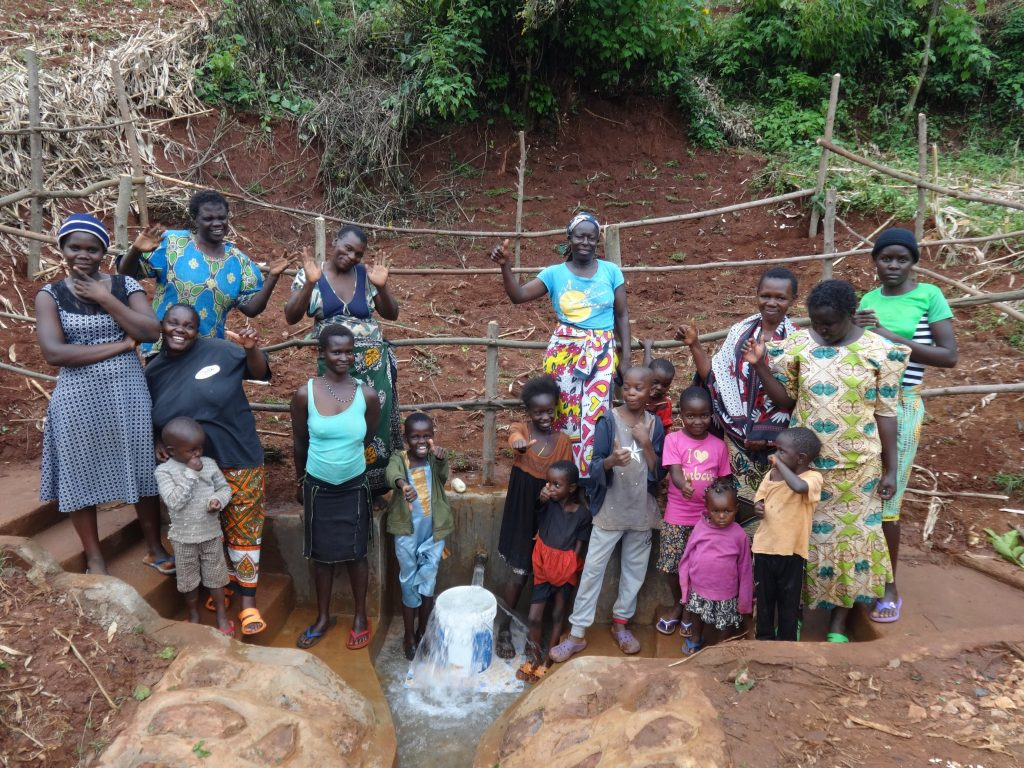 The Water Project : 20-kenya19133-community-celebrates-the-new-spring