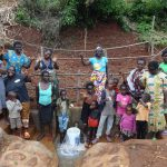The Water Project: Hirumbi Community, Khalembi Spring -  Community Celebrates The New Spring
