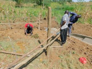 The Water Project:  Community Participating In Fencing