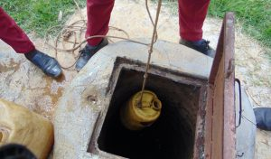 The Water Project:  Looking Down The Well