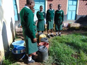 The Water Project:  Students Collecting Water At A Standpipe