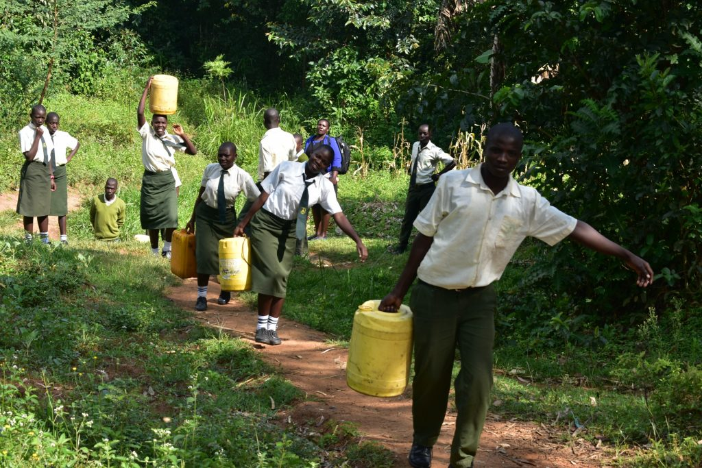 The Water Project : 21-kenya20004-students-carrying-water-1