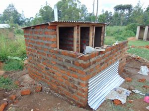 The Water Project:  Latrine Block Construction