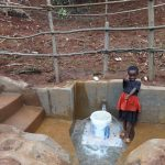 The Water Project: Hirumbi Community, Khalembi Spring -  Thumbs Up For Clean Water
