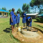 The Water Project: Makale Primary School -  Students Collecting Water