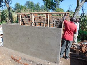 The Water Project:  Framing The Latrine Doors And Roof