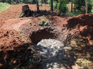 The Water Project:  Garbage Disposal Pit