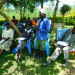 The Water Project: Bung'onye Community, Shilangu Spring -  Community Member Responds To A Question