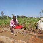 The Water Project: Emmachembe Community, Magina Spring -  Sanitation Platform Construction