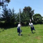 The Water Project: St. Teresa's Isanjiro Girls Secondary School -  Girls Playing Netball