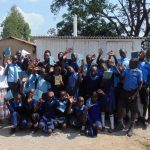 The Water Project: Enyapora Primary School -  Posing With The New Latrines