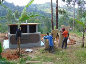 The Water Project:  Adding The Latrine Doors