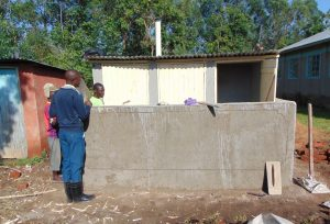 The Water Project:  Latrines Nearing Completion