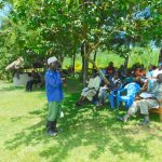 The Water Project: Bung'onye Community, Shilangu Spring -  Volunteer During Dental Hygiene Session