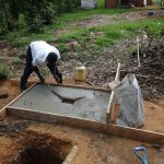 The Water Project: Bungaya Community, Charles Khainga Spring -  Sanitation Platform Construction
